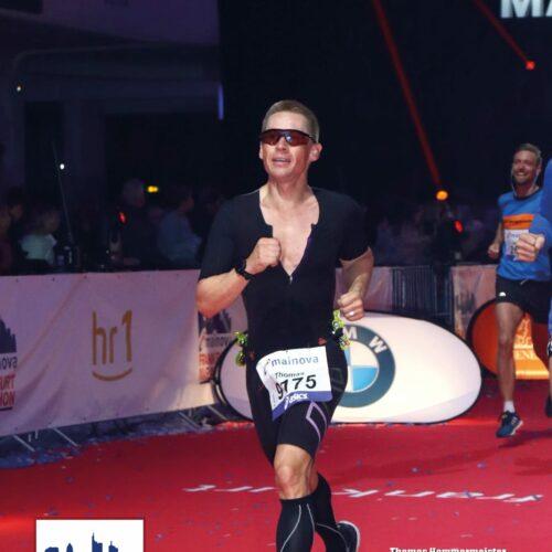 2018 der Einlauf beim Frankfurt Marathon